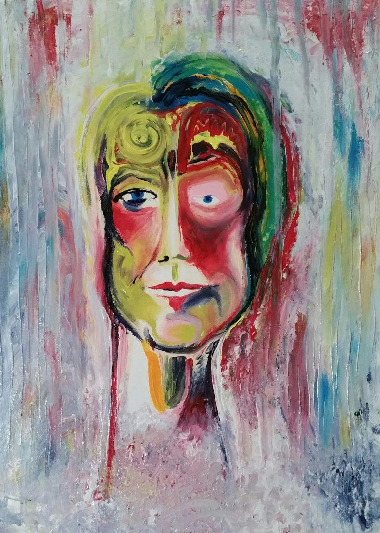 Selbstportrait, fingerpaint