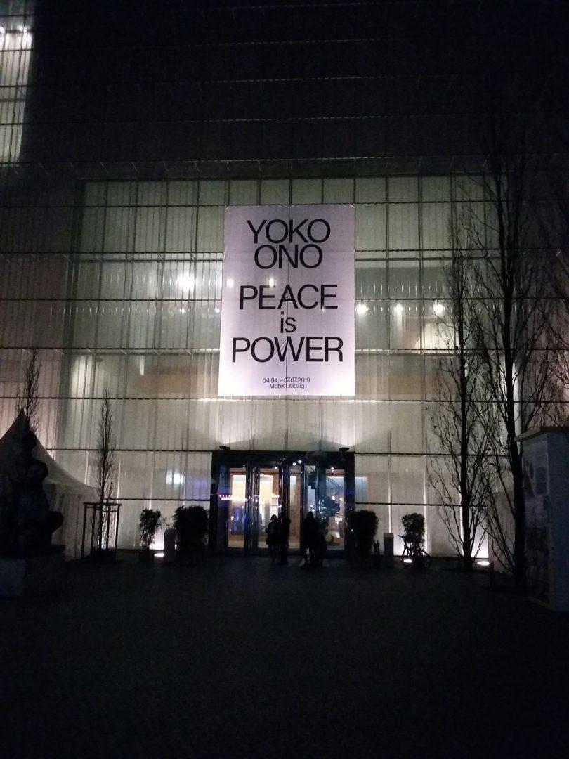 Jurierte Teilnahme am 'Water Event' im Rahmen der YOKO ONO Ausstellung 'Peace is Power' im MdbK Leipzig 2019