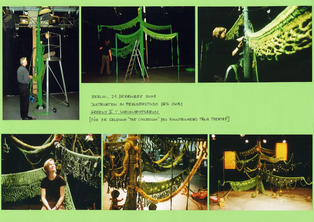 Berlin, Weihnachtsbaum für Fountainhead Dance Theatre, 2003
