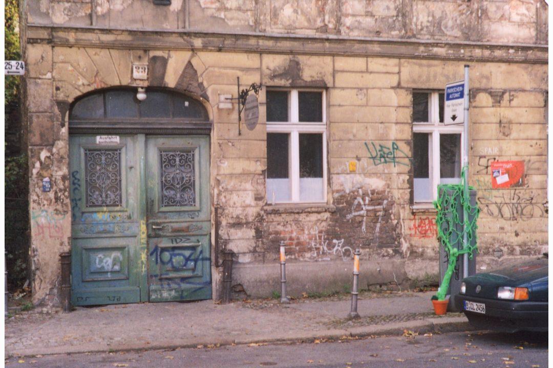 Interaktive Parkscheinautomatenbegrünung, Berlin Oktober 2004